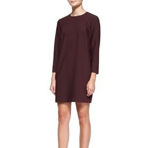 Theory Kula W Trinity 2 Long-Sleeve Shift Dress